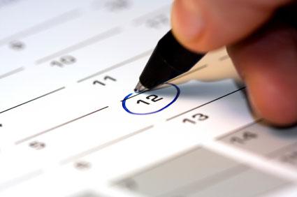 Kalender zur Studienvorbereitung